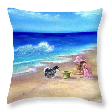 Friendly Encounter Throw Pillow
