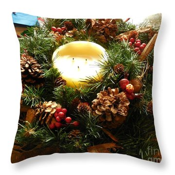 Friendly Holiday Reef Throw Pillow by Robin Coaker