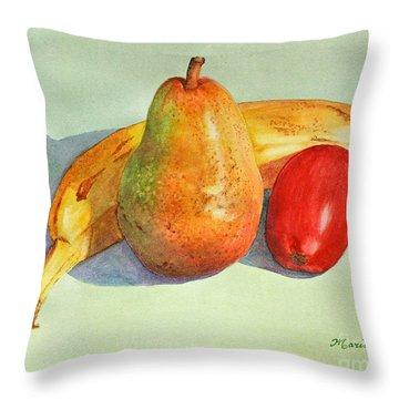 Friendly Trio Throw Pillow by Mariarosa Rockefeller