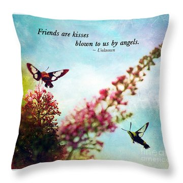 Throw Pillow featuring the photograph Friends Are .....  by Kerri Farley