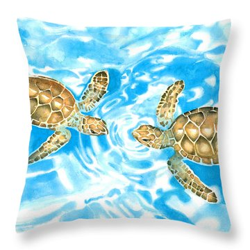 Friends Baby Sea Turtles Throw Pillow