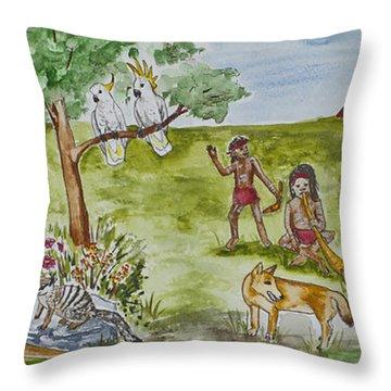 Friends Down Under Throw Pillow