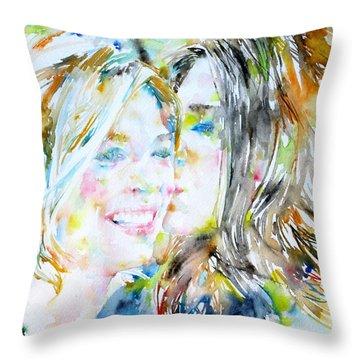 Friends Throw Pillow by Fabrizio Cassetta