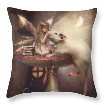Friends Forever Throw Pillow by Cindy Grundsten