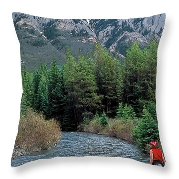 Friends In Awe Throw Pillow by Terry Reynoldson