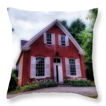 Friends Meeting House Throw Pillow by Skip Willits