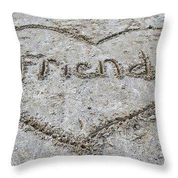 Friends Throw Pillow by Frozen in Time Fine Art Photography
