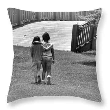 Friends Throw Pillow by Tara Potts
