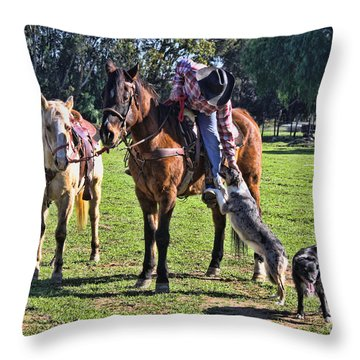 Friends Throw Pillow by Tommy Anderson
