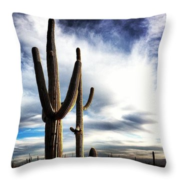 Friends With Border Throw Pillow