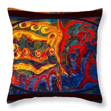 Friendship And Love Abstract Healing Art Throw Pillow