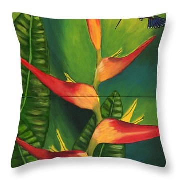 Friendship Throw Pillow by Laura Forde