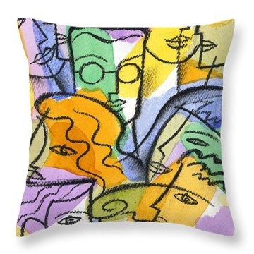 Friendship Throw Pillow by Leon Zernitsky