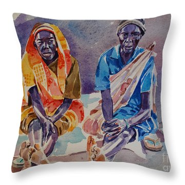 Friendship  Throw Pillow by Mohamed Fadul