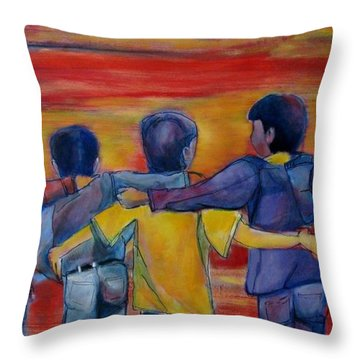 Friendship Walk - Children Throw Pillow