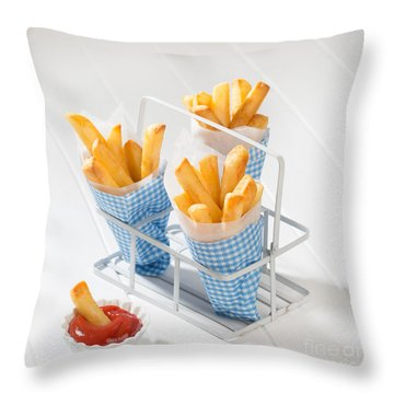 Fries Throw Pillow by Amanda Elwell