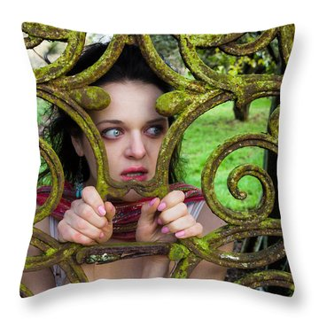 Frightened  Throw Pillow by Semmick Photo
