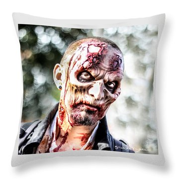 Throw Pillow featuring the photograph Frightfulness Bones by Stwayne Keubrick
