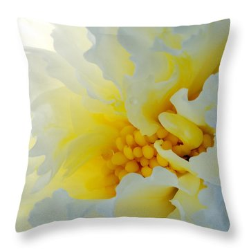 Frilling Throw Pillow by Wendy Wilton