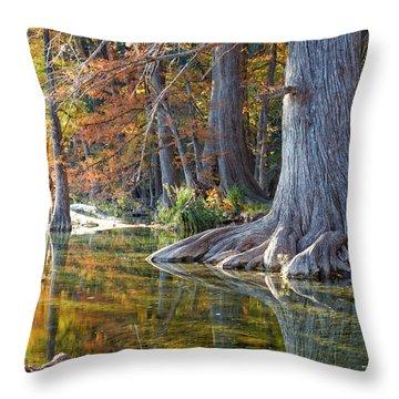 Frio River Morning Throw Pillow