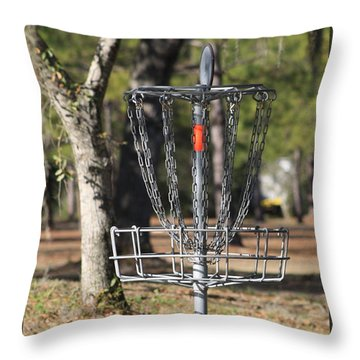 Frisbee Golf Throw Pillow