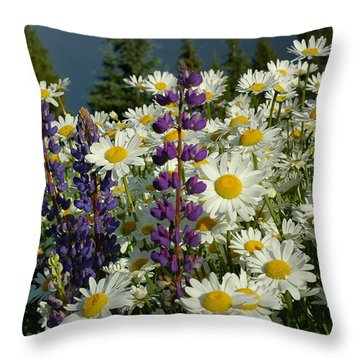 Throw Pillow featuring the photograph Frisco Flowers by Lynn Bauer