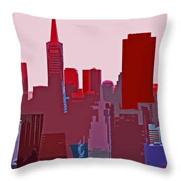 Frisco Skyline Throw Pillow