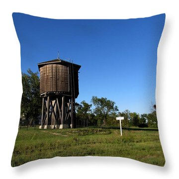 Frisco Water Tower  Throw Pillow