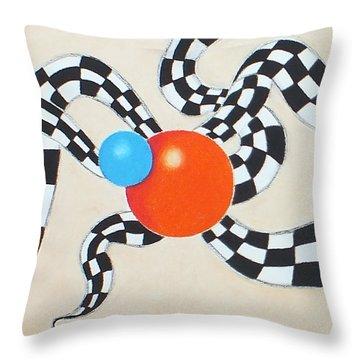 Frisky Throw Pillow by Sven Fischer
