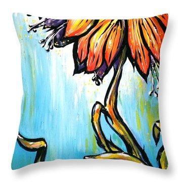 Fritillaria Imperialis Throw Pillow