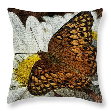 Fritillary Variegated  Throw Pillow by James C Thomas