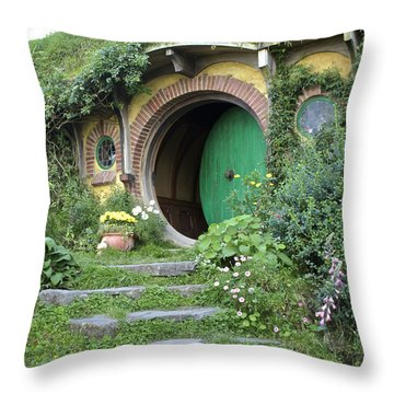 Frodo Baggins Lives Here Throw Pillow