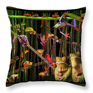 Frog Bog Throw Pillow