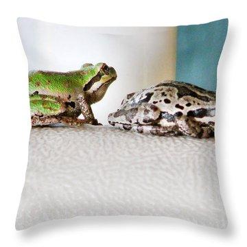 Frog Flatulence - A Case Study Throw Pillow