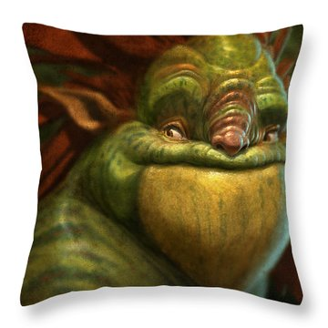 Frogman Throw Pillow by Aaron Blaise