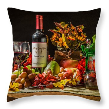 Throw Pillow featuring the photograph Frog's Night Out by Janis Knight