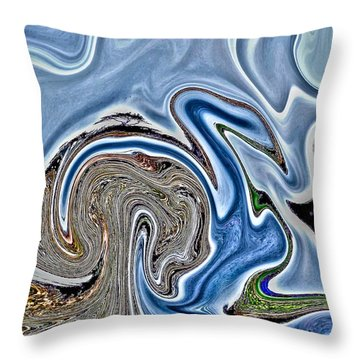Throw Pillow featuring the photograph Frolic by Nick David