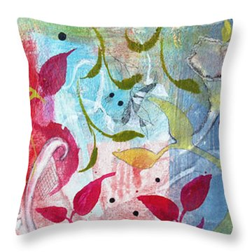Throw Pillow featuring the painting Frolic by Robin Maria Pedrero