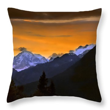 Throw Pillow featuring the photograph From A Distance by Dyle   Warren