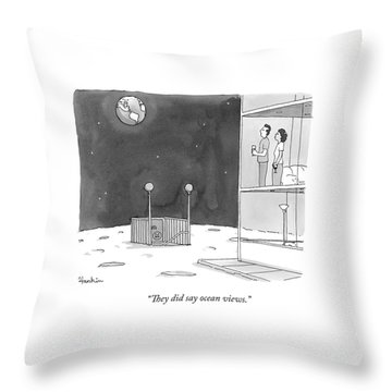 From An Apartment Window On The Moon Throw Pillow