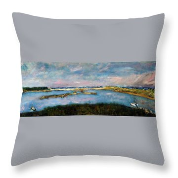 From Coast Guard Beach To Nauset Beach Throw Pillow