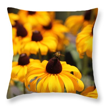 From Flower To Flower Throw Pillow