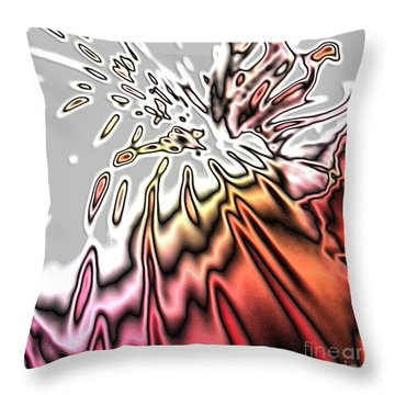 From Grey To Red. Beautiful Abstract Design Throw Pillow