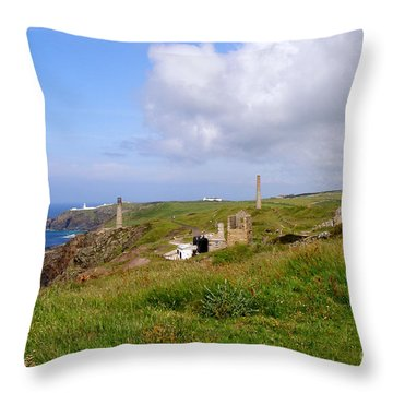 From Levant To Pendeen Cornwall Throw Pillow by Terri Waters