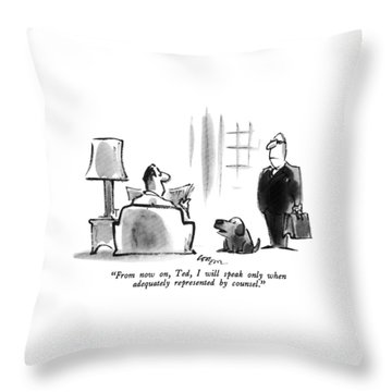 From Now Throw Pillow