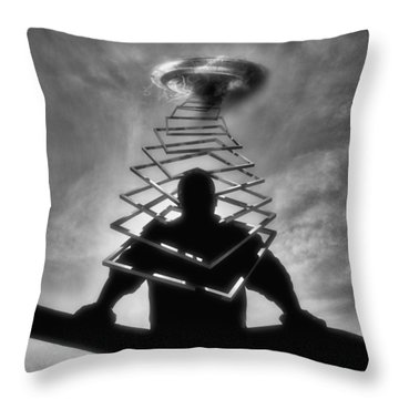 From Outer Space Throw Pillow by ISAW Gallery