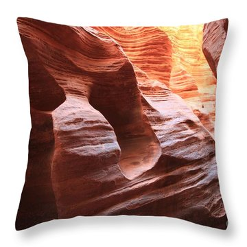 From Red To Yellow Throw Pillow