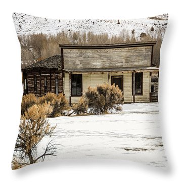 From Saloon To Store Front And Home Throw Pillow
