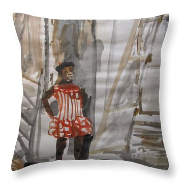 From Slavery To Penury Throw Pillow by Esther Newman-Cohen