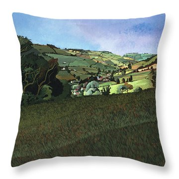 From Solsbury Hill Acrylic On Canvas Throw Pillow